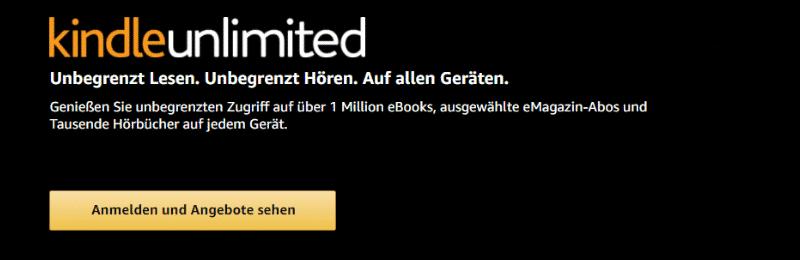 Amazon Partnerprogramm Bounty Event Amazon Kindle Unlimited