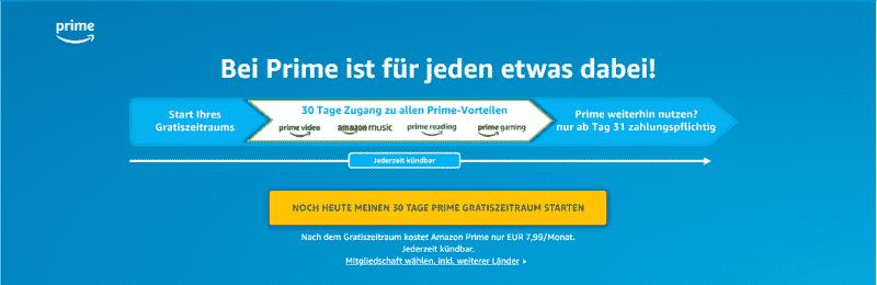 Amazon Partnerprogramm Bounty Event Amazon Prime