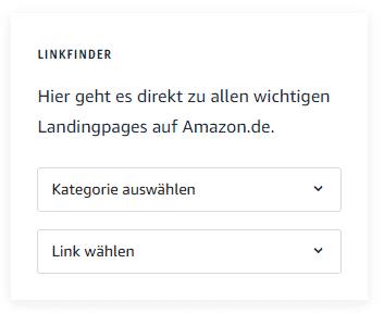 Amazon Partnerprogramm - Linkfinder