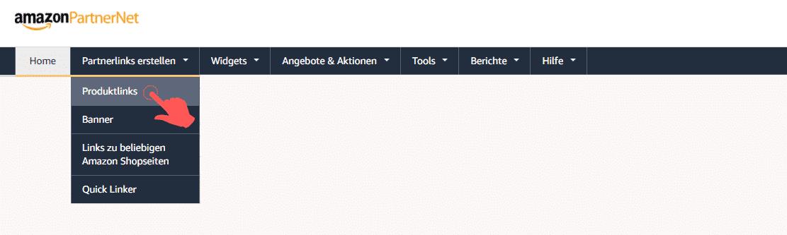 Amazon Partnerprogramm - SiteStripe Partnerlinks Bestseller Kategorie finden