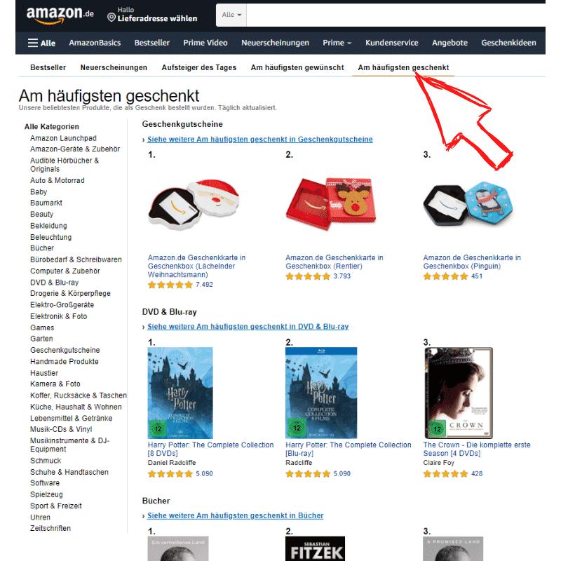 Amazon Partnerprogramm - Trends Geschenkt