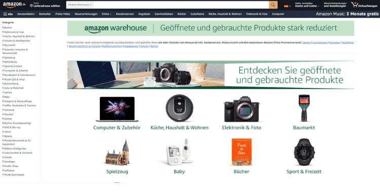 Amazon Partnerprogramm - Warehouse