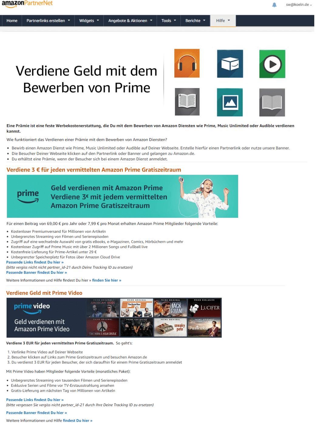 Amazon Partnerprogramm - Website Optimieren - Prime Deal