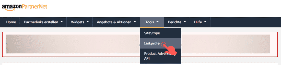 Amazon Partnerprogramm - Werbemittel - Produktlinks - Linkprüfer
