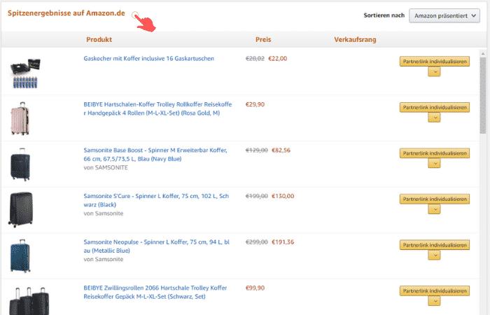 Amazon Partnerprogramm - Werbemittel - Produktlinks - Produktsuche Ergebnisse