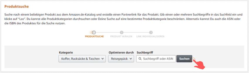 Amazon Partnerprogramm - Werbemittel - Produktlinks - Produktsuche