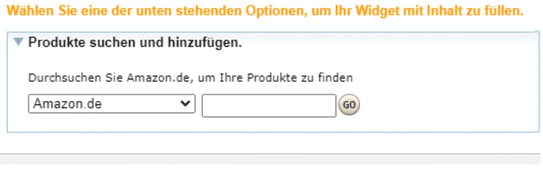 Amazon Partnerprogramm - Werbemittel - Widgets - Favoriten Produkte hinzufuegen