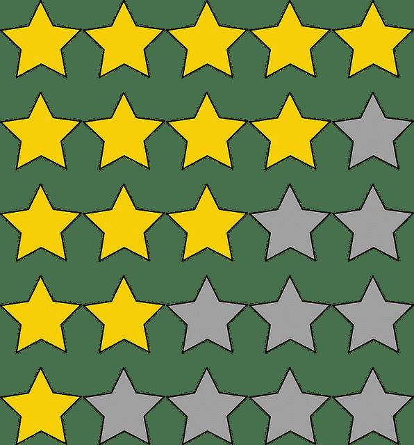 Bewertung Sterne