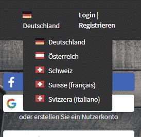 Entscheiderclub - Registrieren Länder