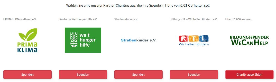 Entscheiderclub - Spenden Auswahl