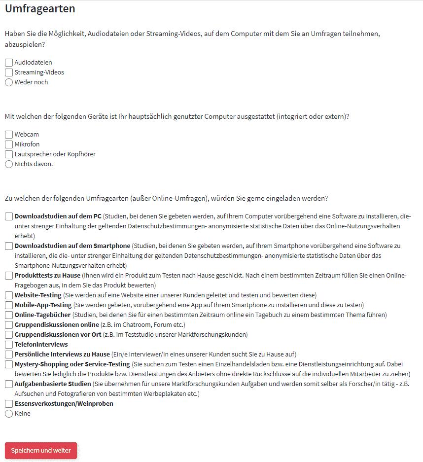 Entscheiderclub - Umfragearten