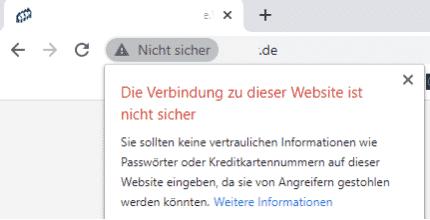 Google Ranking verbessern - SSL Nicht Sicher Chrome
