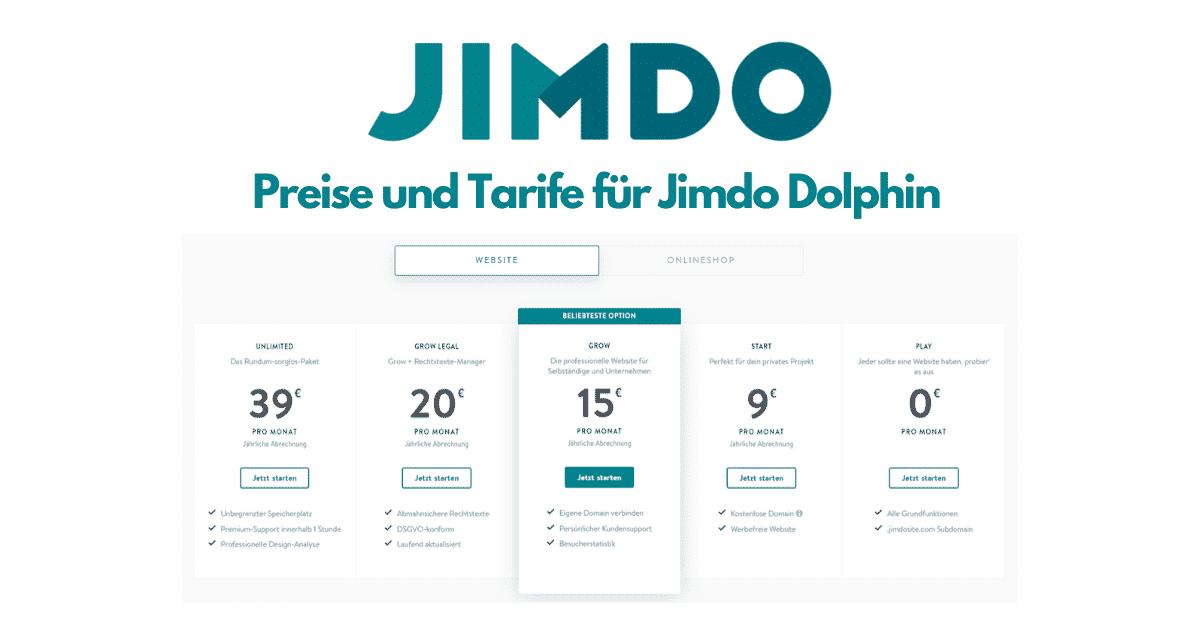 Jimdo Dophin Website Preise