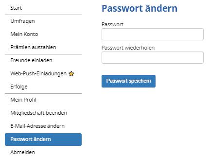 Mobrog - Account Passwort ändern