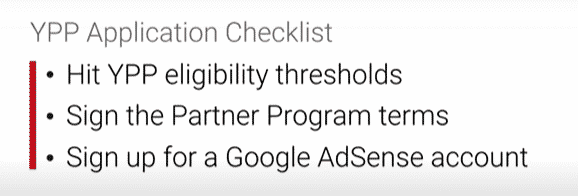 YouTube Partnerprogramm Application Checklist