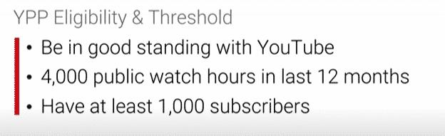 YouTube Partnerprogramm Anspruchsvoraussetzungen