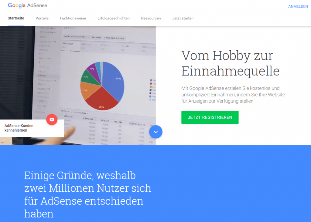 Affiliate Marketing mit Google Adsense