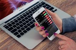 Aktienkurse auf einem iPhone