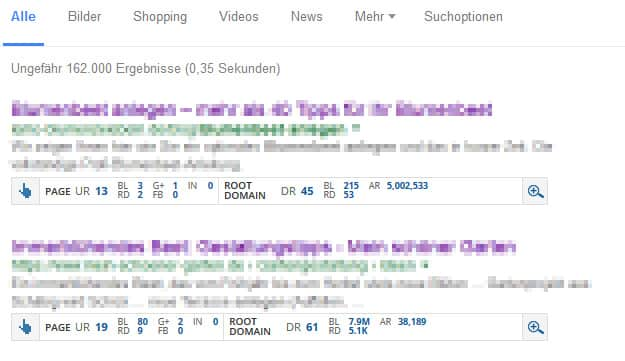 Anzahl der Backlinks im Google Ranking