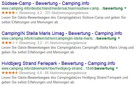 Suchergebnisse mit Bewertungen