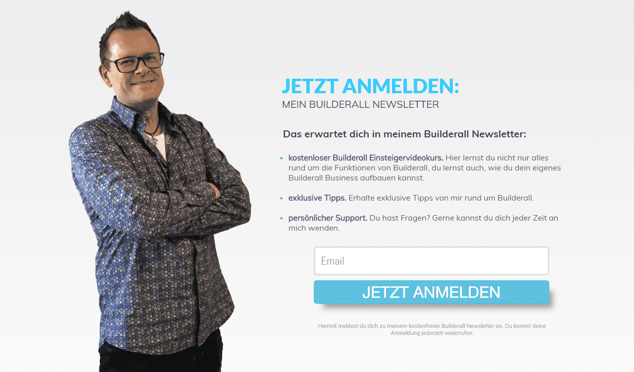 Builderall Newsletter Formular