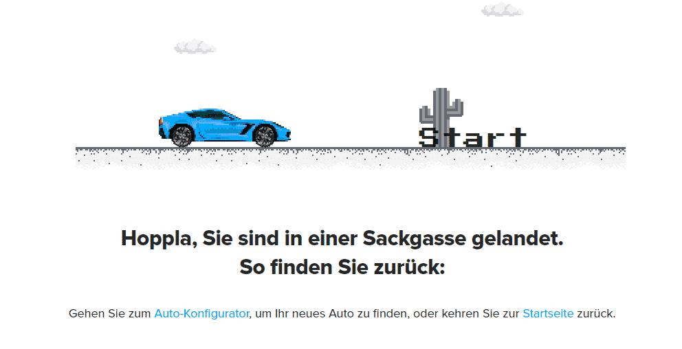 Error 404 Seite bei Carwow