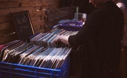 Schallplatten auf dem Flohmarkt