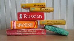 Wörterbücher in verschiedenen Spachen