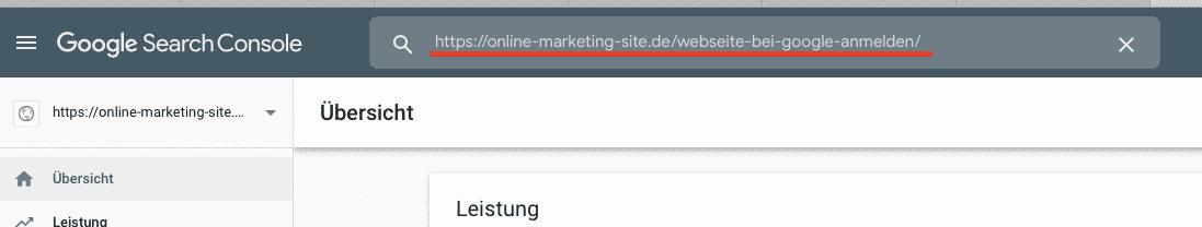 Website zur Indexierung einreichen