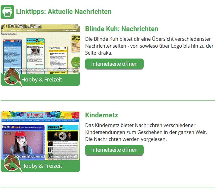 Seite mit Linktipps