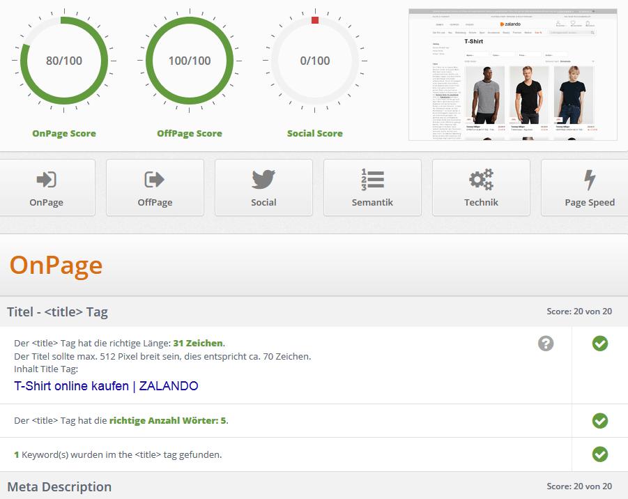 SEO Tool SEO Site Check