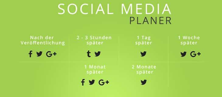 Panen von Beiträgen auf den social media Plattformen