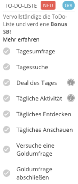 Swagbucks Tipp: To Do Liste abarbeiten