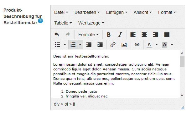 Texteditor bei Digistore