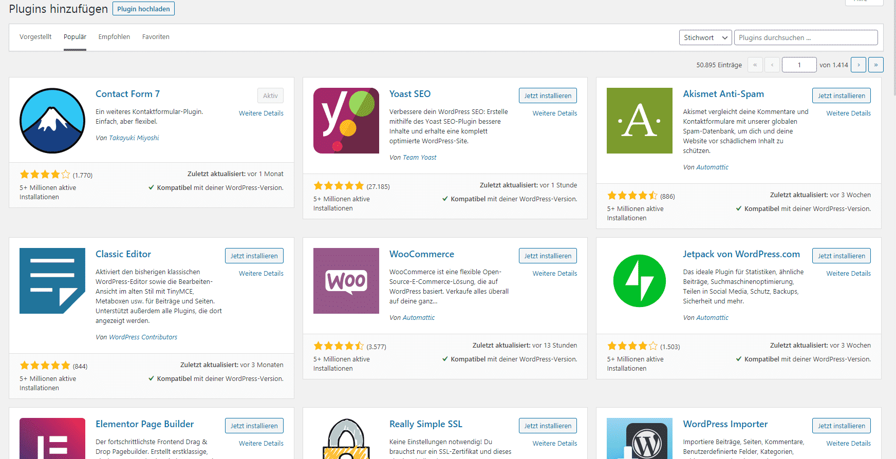 WordPress Plugin Bibliothek